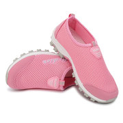 Mesh Breathable Candy Color Slip On Flat Casual Sport Lazy Shoes