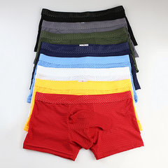 Sexy Mesh Breathable Elephant Shaped U Convex Pouch Stripes Boxers for Men