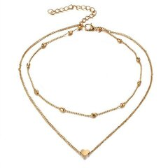Trendy Double-layered Heart Anklet Peach Heart Beach Anklet