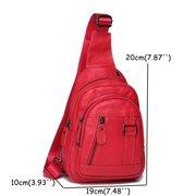 Women Vintage Genuine Leather Sling Bag Chest Bag Crossbody Bag