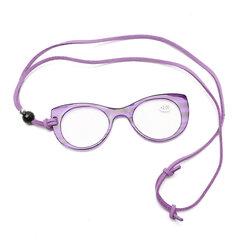 Women Hanging Light AC Hand Holding Glasses Computer Cat Eye Reading Glasses