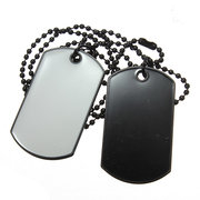 Army Style White Black 2 Collier de Tag Dog