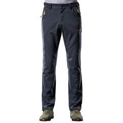 Mens Elastic Breathable Windproof Waterproof Soft Shell Outdoor Sport Hiking Casual Pants