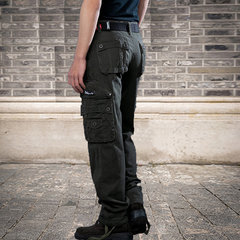 Mens Winter Thick Warm Fleece Lining Casual Pants Multi-Pocket Military Cargo Pants