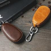 Männer echtes Leder Autoschlüssel Inhaber Schlüsseltasche