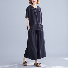 Season New Large Large Fat Mm Solid Color Two-piece Female