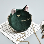 Suede Chain Round Bag Shoulder Bag For Women
