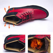 Men Stylish Color Blocking Splicing Trainers Lace Up Casual Ankle Boots
