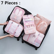 5/7/9 Pieces Waterproof Travel Organizer Waterproof Multi-function Travel Bags