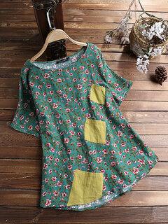 T-shirt a maniche corte con stampa floreale