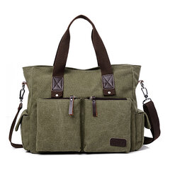 Men Canvas Outdoor Casual Traveling Large Capacity Multi-function Crossbody Bag