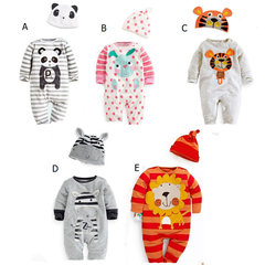 Cute Animal Baby Infant Girls Boys Playsuit Romper + Hat Disfraces para 0-18M
