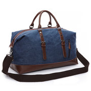 Canvas With Leather Casual Travel Clutch Bag Crossbody Bag For Men