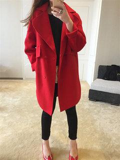 Wool Long Sleeve Turn-Down Collar Coats
