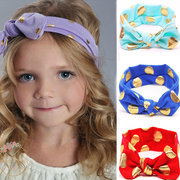 12 Colors Baby Headband Bowknot Dot Pattern Elastic Hair Bands  For 0-4 Years