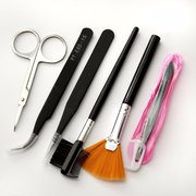 Professional False Extension Eyelash Glue Brush Set Kit com estojo
