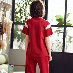 Cotton Short-sleeved Cropped Trousers Thin Section Two-piece Pajamas