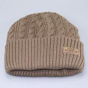 Men Warm Winter Casual Beanies Knitted Hats Outdoor Ski Plus Plush Windproof Ear Warm Hats