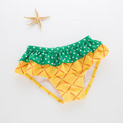 3PCS Kids Baby Girls Hot Pineapple Pattern Bikini Set Suit Swimsuit Swimwear