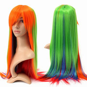 75cm Women Cosplay Wig Gradient Wavy Curly Long Hair Full Wigs Party5 Colors