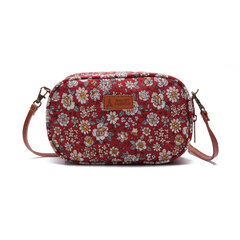 Women Fabrics Mini Print Crossbody Bag Leisure Phone Bag