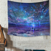 Colorido Galaxy Indian Mandala Tapestry Wall Hanging Throw Colchão Yoga Mat Beach Towel
