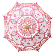 Lace Elegant Embroidered Parasol Umbrella For Bridal Wedding Party Prop Decoration