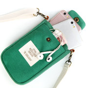 Women Canvas Cute Phone Bag For iPhone Multi-Function Crossbody Bag