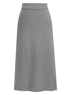 Cintura alta elegante Médio Longo Knit Winter Skirt