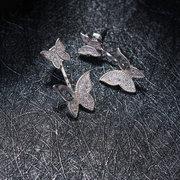 Süße 925 Sterling Silber Rose Gold Ohrringe voller Zirkonia Schmetterling Piercing Ohr Jacken für Frauen