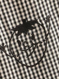 Plaid Cartoon Drawstring Casual Black&White Pants