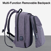 15.6 Inch Oxford Backpack Multi-functional Removable Laptop Bag With USB Charging Port For Men