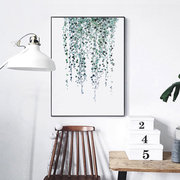 Tropical Plants Leaves Canvas Vintage Poster Wall Painting Art Prints Modern Home Decor