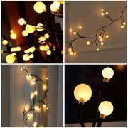 72LED Christmas Tree Branch String Light Garlands Waterproof Garden Party Holiday Outdoor Home Decor