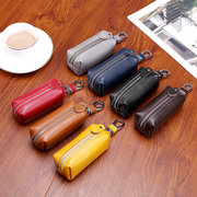 Men And Women Genuine Leather Car Key Holder Purse