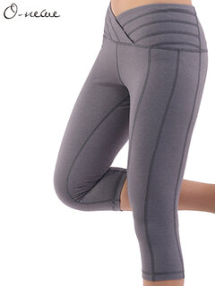 O-Newe Casual Slim Stretch Sport Yoga Cropped Pants For Women