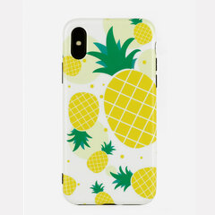Unisex Woman Yellow Pineapple Fruit Pattern TPU Soft Cute Phone Case For iPhone