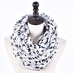 Women Soft Voile Warm Ring Neck Collar Scarf Casual Elegant Scarves Warmer Cowl Collar Circle Scarf