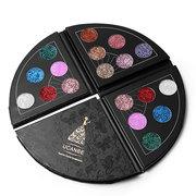 UCANBE Glitter Fan Shaped Eyeshadow Palette Metallic Waterproof Sparkle Diamond Eye Shadow Shimmer E