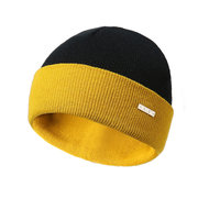 Mens Winter Double Sided Knitted Beanie Cap Earmuffs Warm Outdoor Casual Skiing Hats