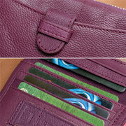 Women Light Genuine Leather Small Wallet Short Wallet Purse Card Holder
