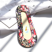 Women Invisible Antiskid Cotton Boat Socks Floral Shallow Liner No Show Peep Low Cut Hosiery