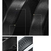 125CM Cinturón duradero de primera capa de cuero genuino con hebilla automática de negocio para hombres