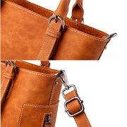 Women Vintage PU Leather Crossbody Bags Shoulder Bags Handbag