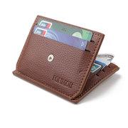 PU 7 Card Slot Lässige Brieftasche Business Münztüte Geldbeutel Für Männer