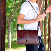 PU Business Vintage Messenger Bag Casual Crossbody Shoulder Bag Sling Bag For Men