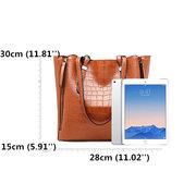 Le modèle de crocodile de femmes grande capacité fausse cuir met en sac le sac à bandoulière solide
