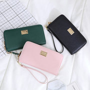 Women Solid Long Wallet 7 Card Slot Card Holder Phone Purse Multi-function Coin Bag