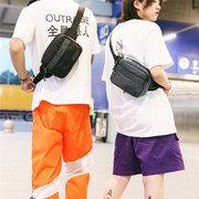الرجال Nylon حقيبة الصدر متعددة الوظائف الصلبة عارضة الخصر حقيبة سفر حقيبة كروسبودي للرجال