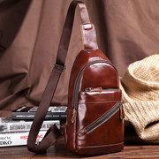 Cassa in pelle di vacchetta vintage da uomo Borsa Crossbody Borsa